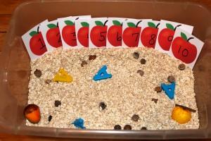 Letter 'A' Alphabet Box & Sensory Tub