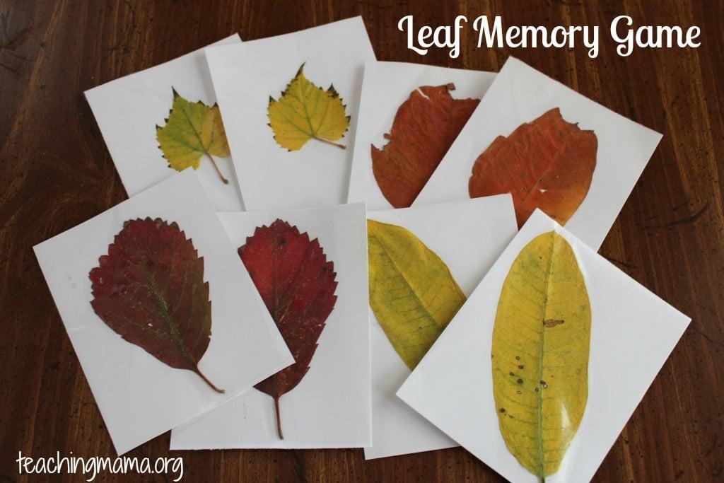 Leaf Memory Game