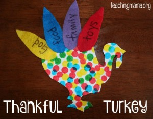 Thankful Turkey Craft for Toddlers & Preschoolers