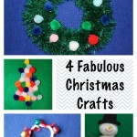 4 Fabulous Christmas Crafts for Kids!
