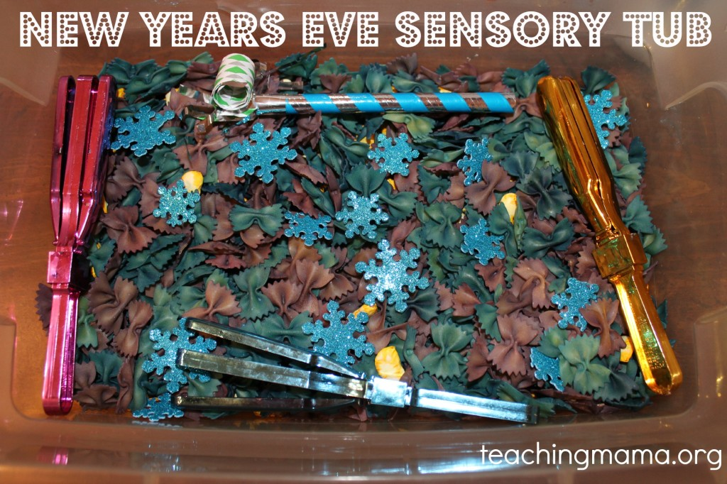 New Years Sensory Tub