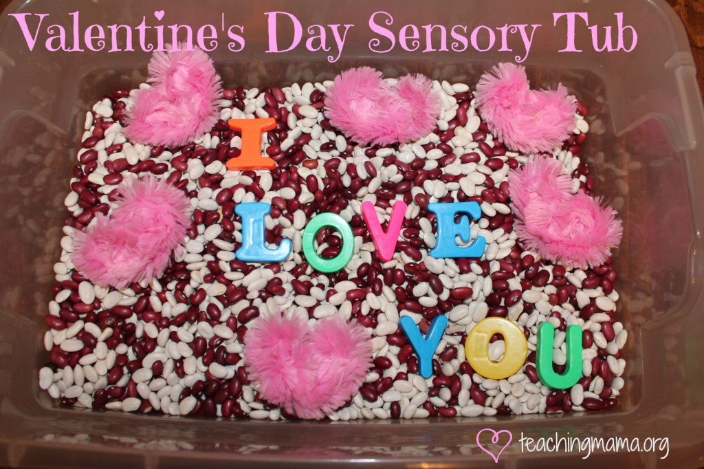 Valentines Day Sensory Tub