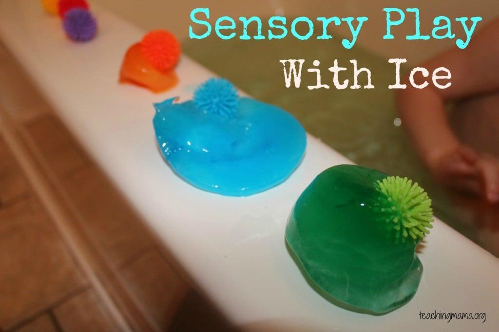 Sensory Play with Ice
