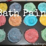 Bath Paint with Shaving Cream
