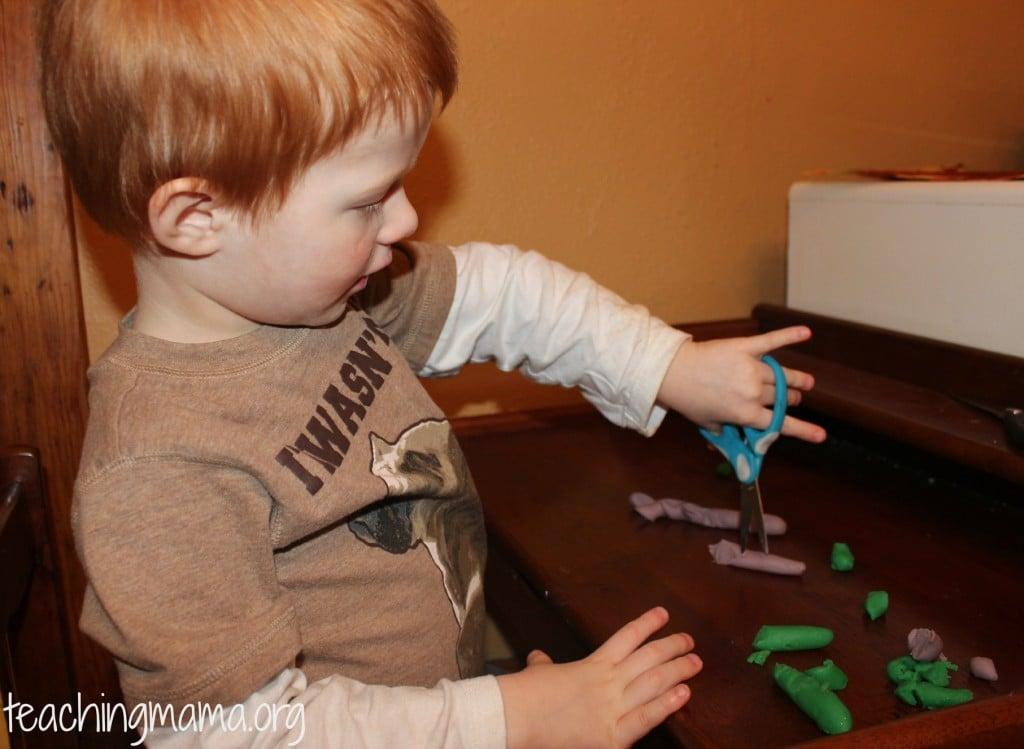 Cutting Playdough