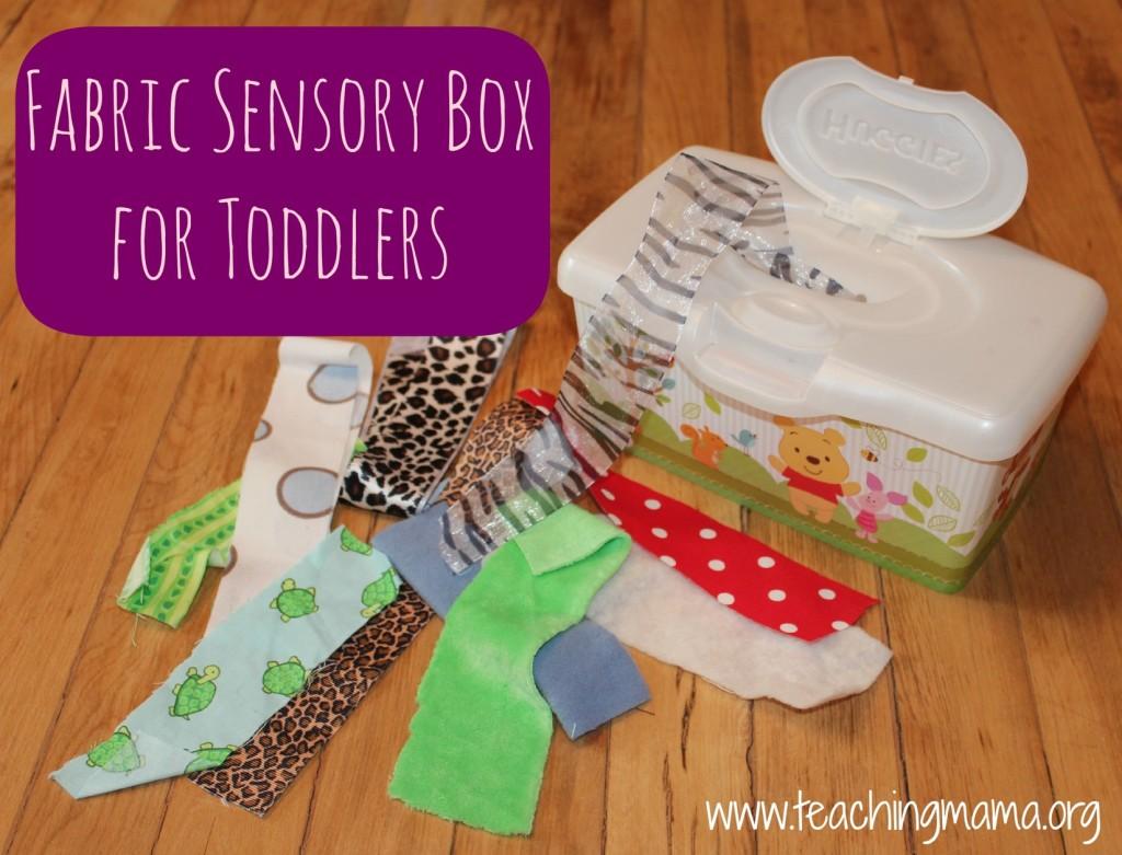 Toddler Tuesday: Fabric Box - Teaching Mama