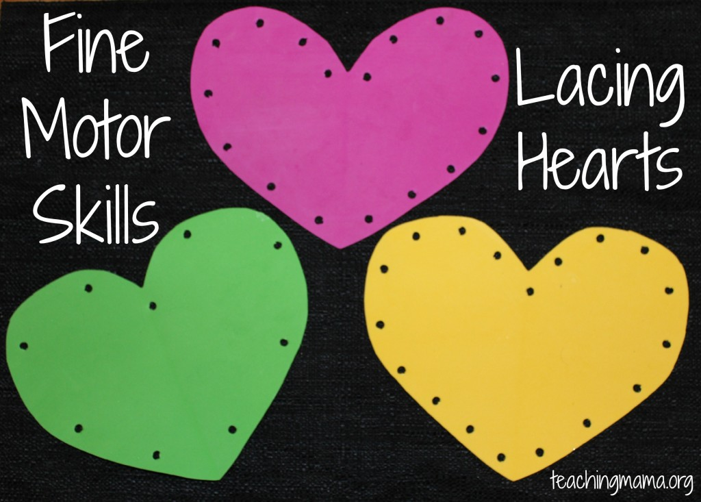 Fine Motor Skills on Lacing a Heart