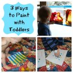 3 Easy Ways to Paint with Toddlers