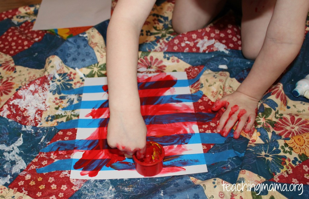 Red Finger Paint for Toddlers
