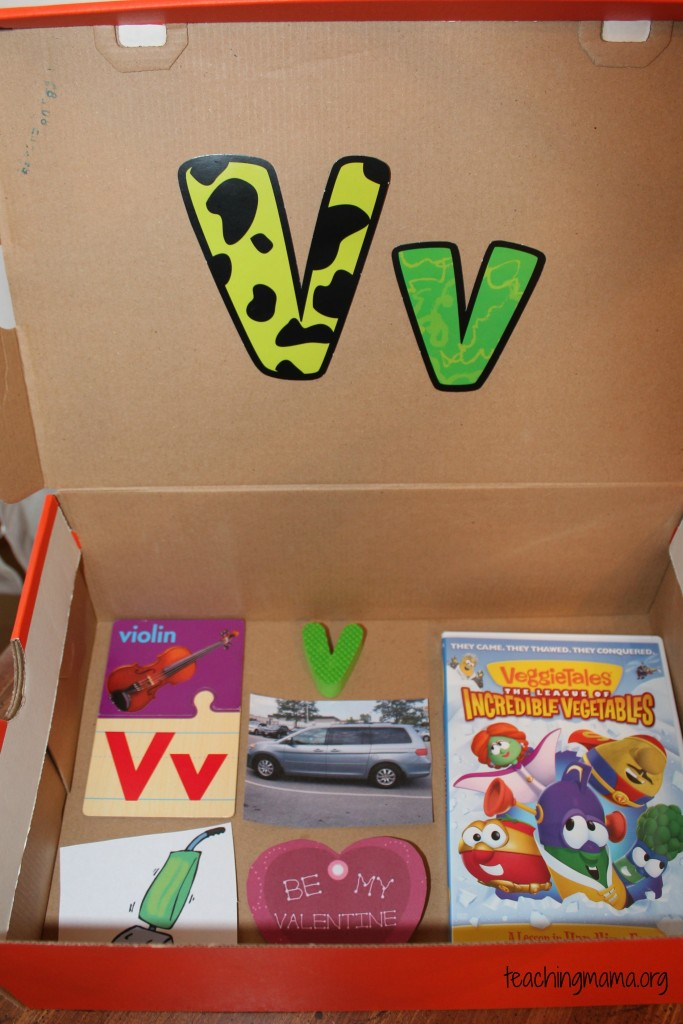 box letter alphabet letter v activities teaching 210