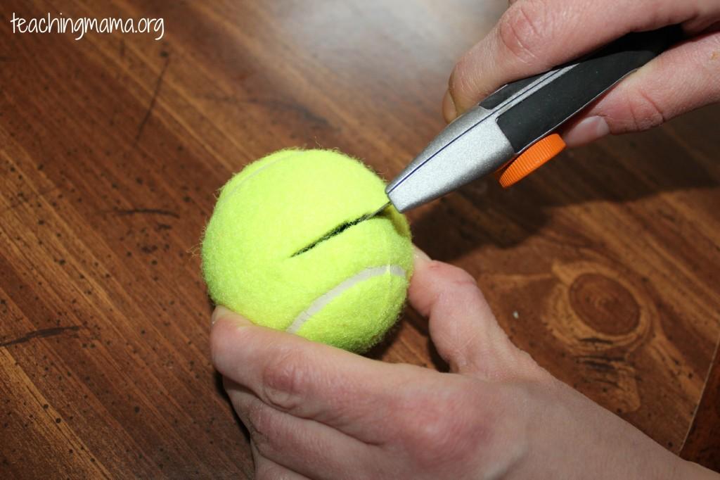 Cutting the Tennis Ball
