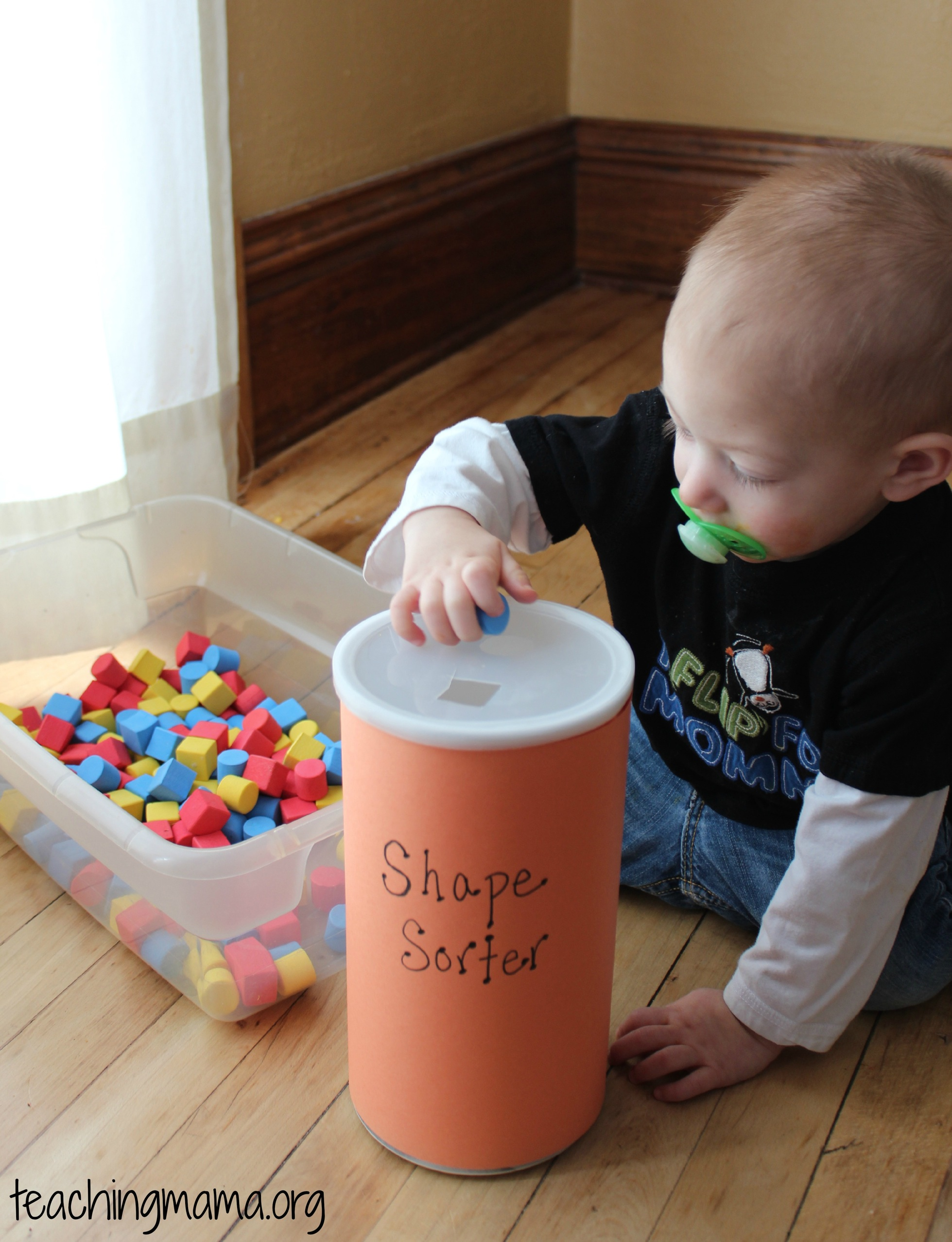 Toddler Tuesday DIY Shape Sorter Teaching Mama