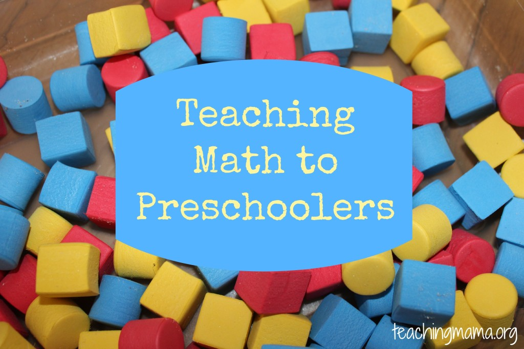 Teaching Math to Preschoolers - Teaching Mama