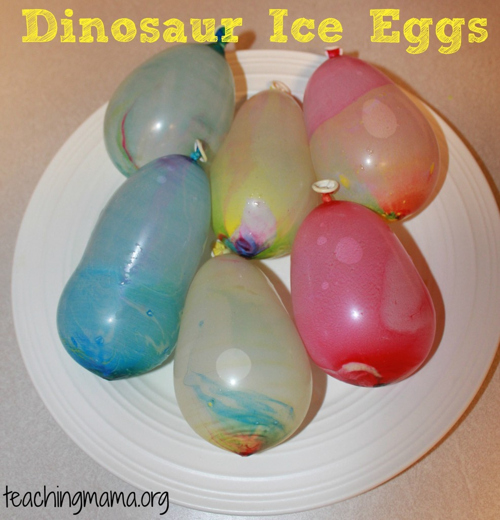 Dinosaur ice eggs teaching mama for Dinosaur crafts for toddlers