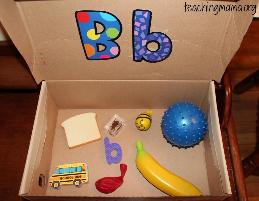 Letter B Alphabet Box
