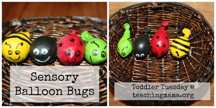 Toddler Tuesday Sensory Balloon Bugs Teaching Mama