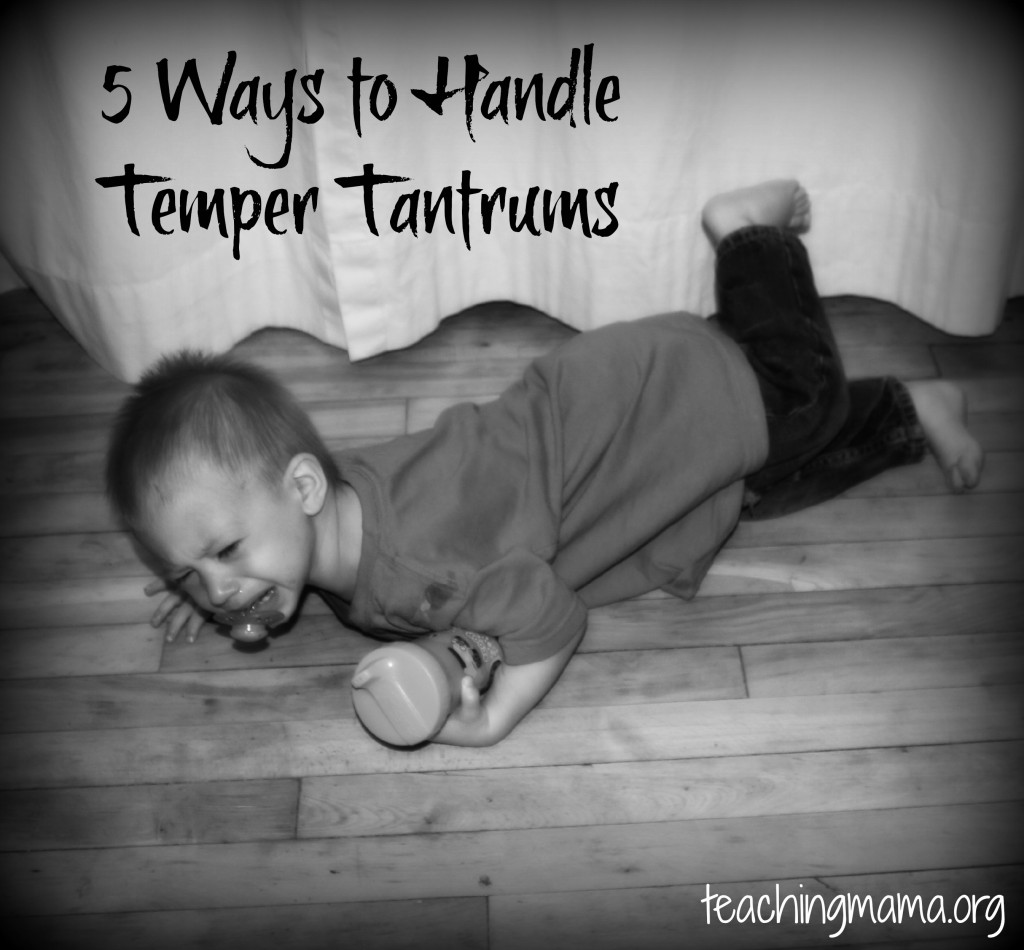 Handling Temper Tantrums in Toddlers