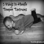 Toddler Tuesday: Temper Tantrums!!