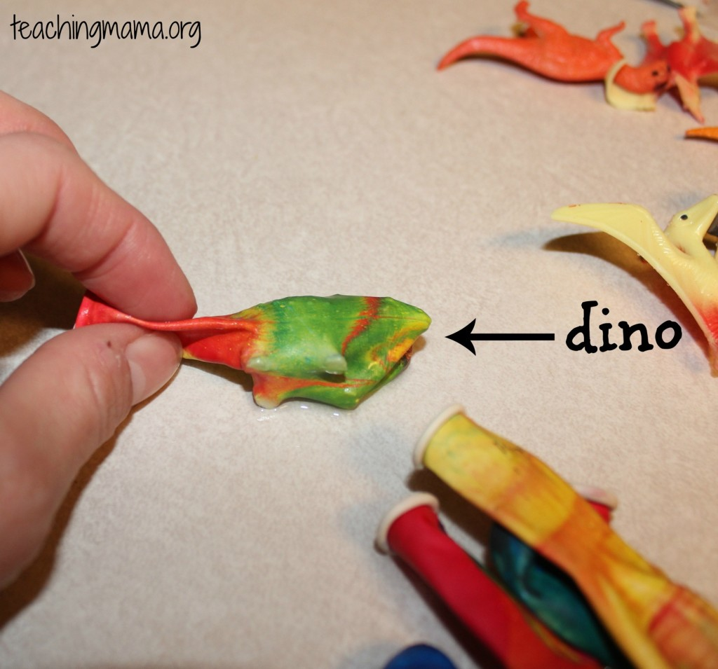 Dino Ice Eggs- how to put dino in the water balloon