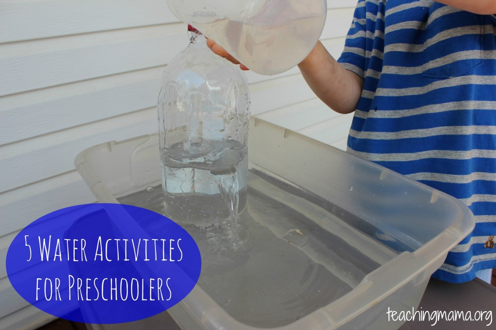 5 Water Activities for Preschoolers