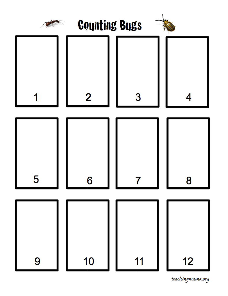 Counting Bugs- Free Printable