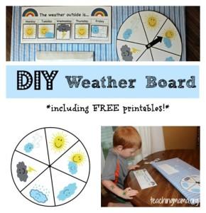 DIY Preschool Weather Board {With Free Printables!}