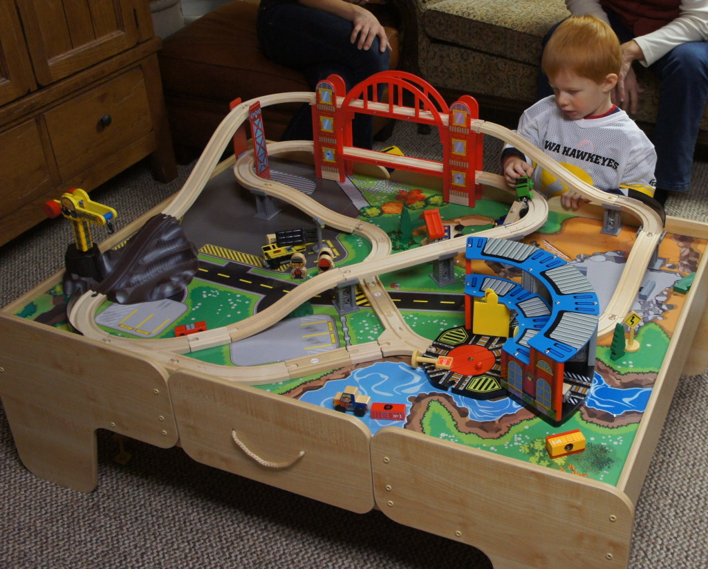 Train Table and Thomas Trains--great for toddlers!