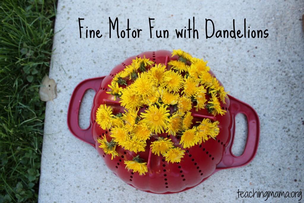 Fine Motor Fun with Dandelions