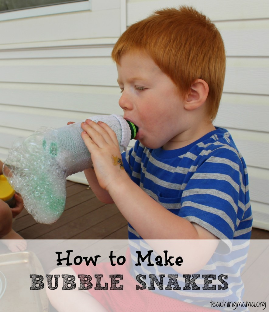 Making Bubble Snakes