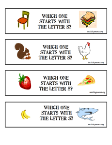 5 Fun Activities for the Letter S