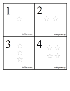 Star Number Cards
