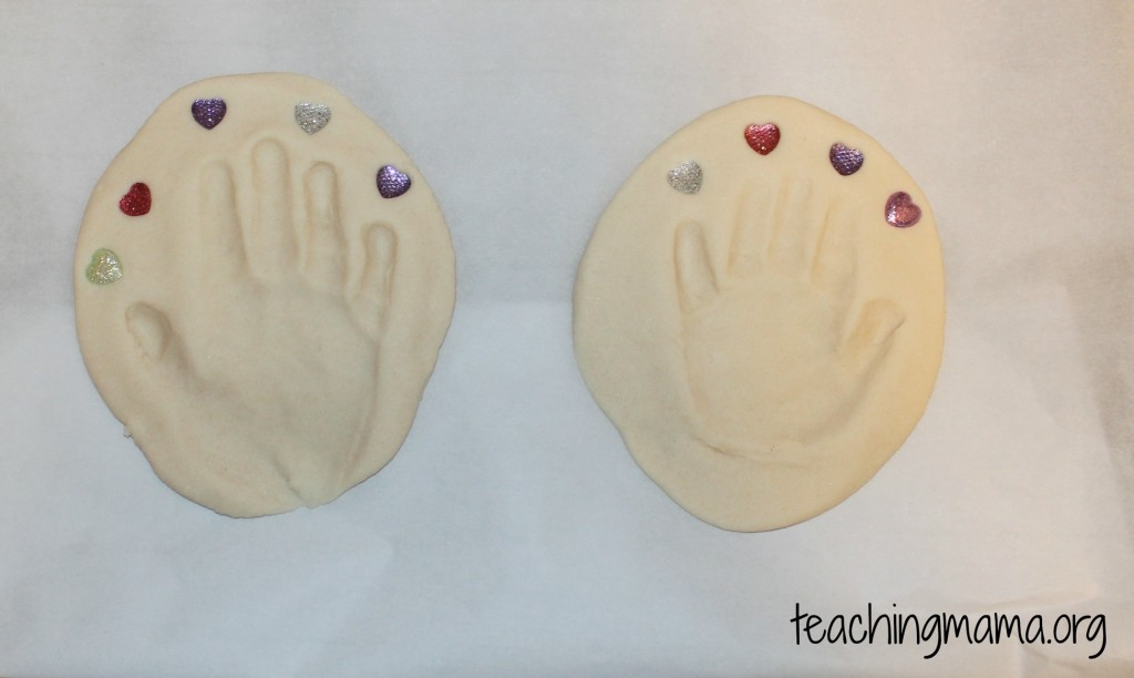 Little hands project using play dough