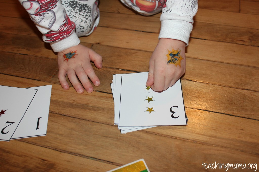Star Number Cards