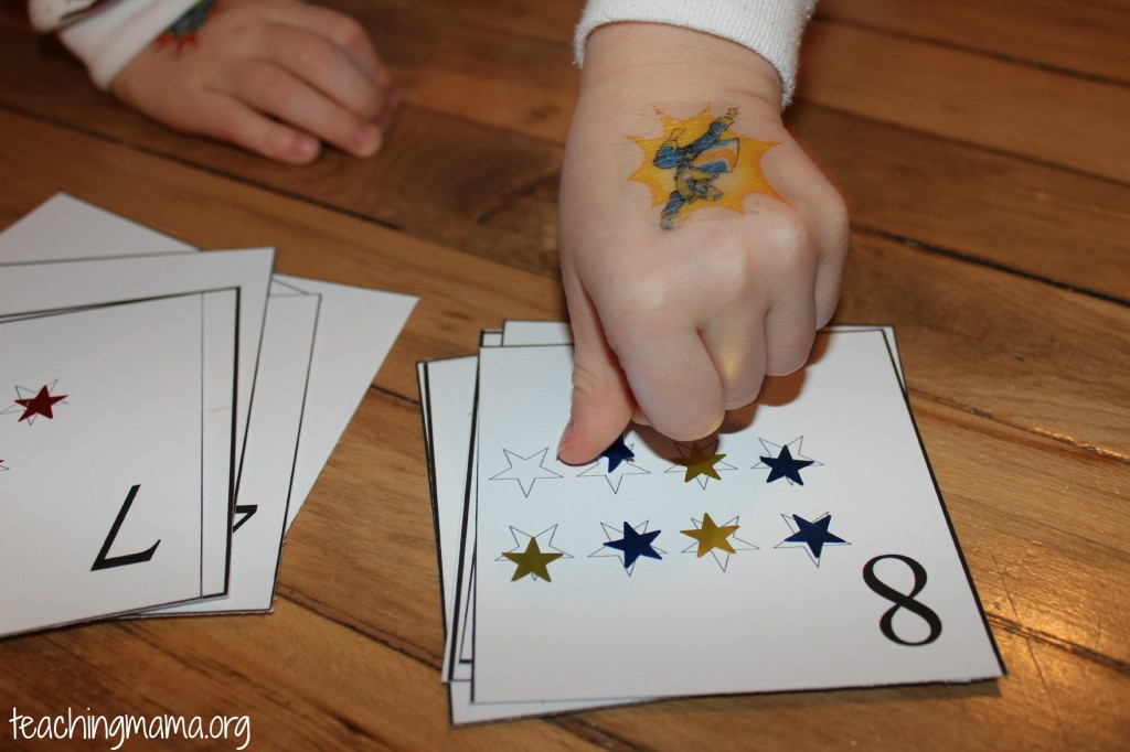 Star Number Cards --includes free printable