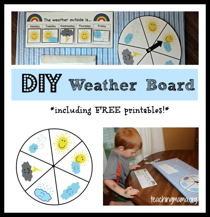 DIY Weather Board {includes free printables!}