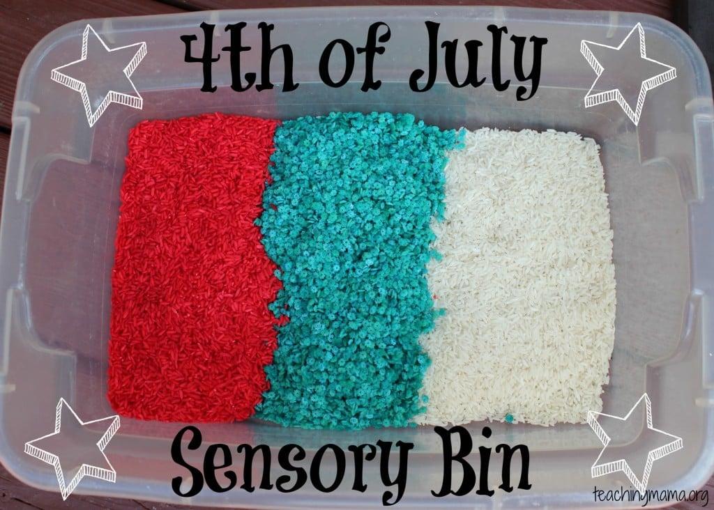 4th of July Sensory Bin