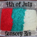 4th of July Sensory Bin