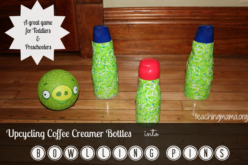 Upcycling Coffee Creamer Bottles into Bowling Pins