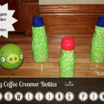 Bowling Game for Kids {Using Coffee Creamer Bottles!}
