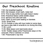 Preschool Planning Sheet {FREE Printable}