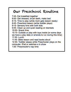 Preschool Planning Sheet {FREE Printable}