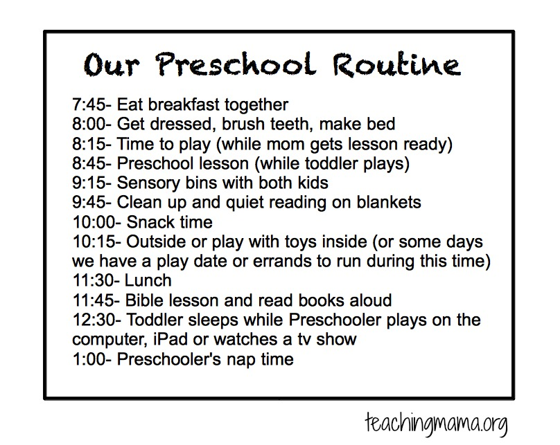 Our Preschool Routine