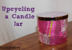 Upcycling a Candle Jar