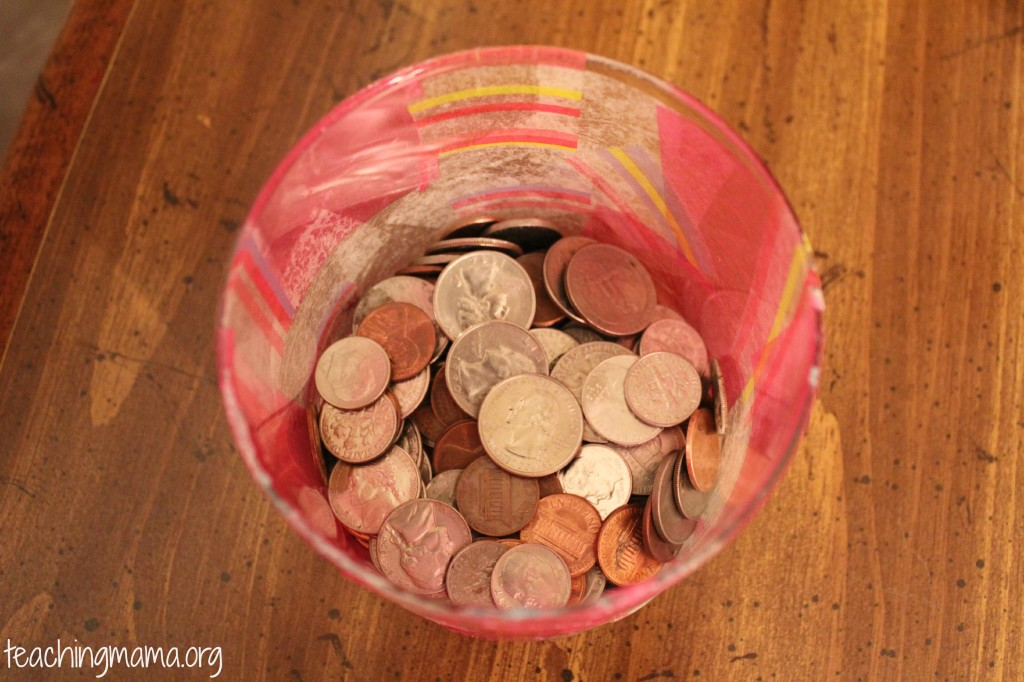 Upcycled Candle Jar with Money