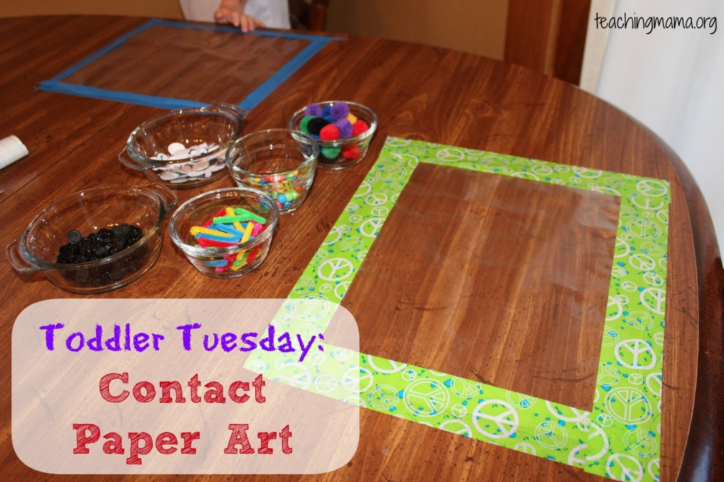 Toddler Tuesday: Contact Paper Art