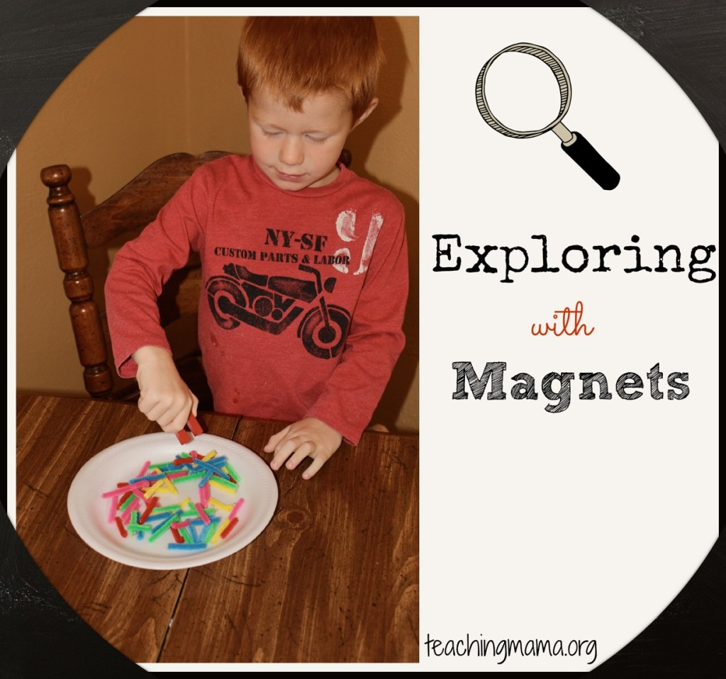 Exploring with Magnets--activities to try with your preschooler!