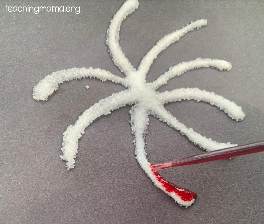 glue and salt firework