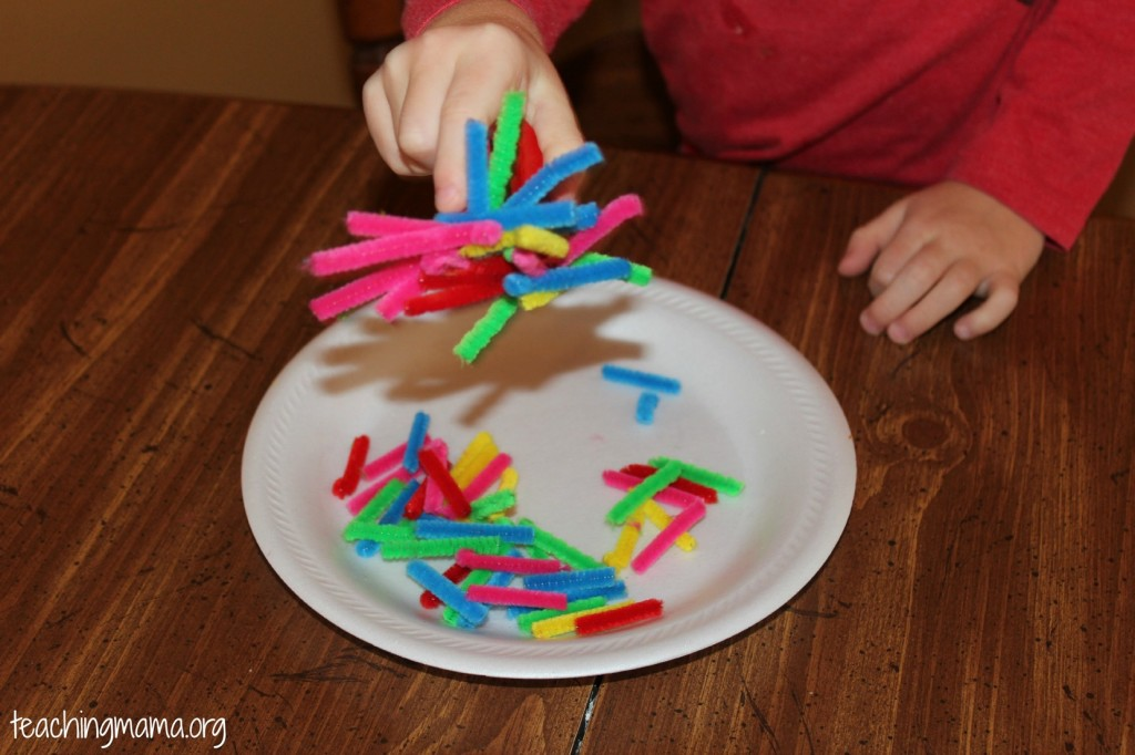 Pipe Cleaners and Magnet Activity