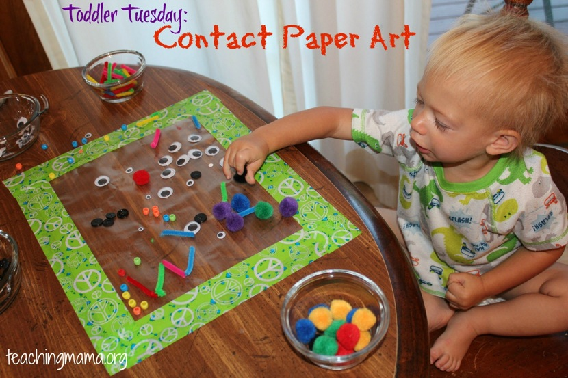 Toddler Tuesday: Contact Paper Art