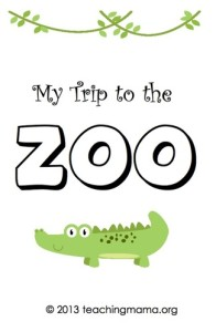 My Trip to the Zoo {Free Printable Booklet}